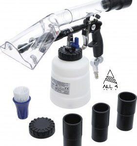 BGS Pistolet pneumatique de nettoyage avec brosse et accessoire d'aspiration | 7 pièces